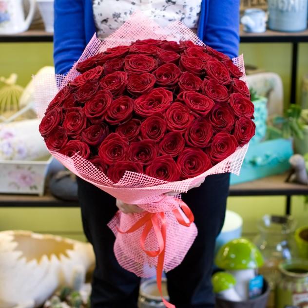 Букет из красных роз (51 роза)