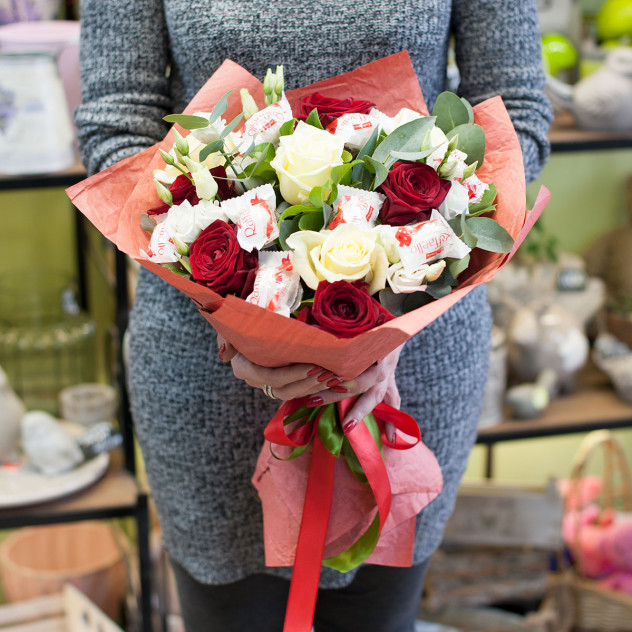 """Букет цветов """"Розы и наслаждение"""""""
